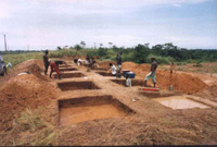 Angondje archaeological site excavations, Gabon - B.Clist